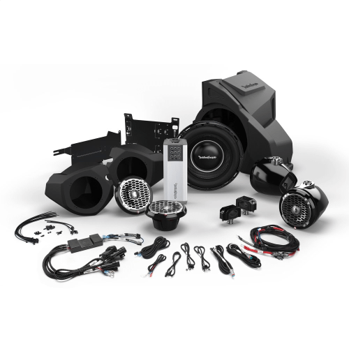 Rockford Fosgate - Ride Command® Interface, 1,000 Watt Stereo, Front and Rear Speaker, and Subwoofer Kit for Select Polaris® RZR® Models