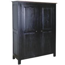 View Product - Cottage Cabinet - Antique Black/ Salvage Top