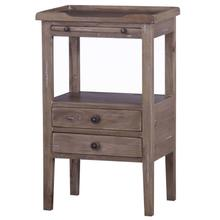 View Product - Eton 2 Drawer Side Table w/ Pull Out Shelf