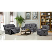 See Details - Socorro Gray Reclining Sofa, Console Loveseat & Recliner, M7625