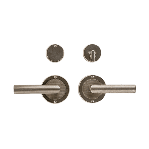 "Rocky Mountain Hardware - Round Flute Entry Set - 3 1/2"" Silicon Bronze Dark with Flute"