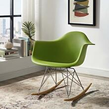 Rocker Plastic Lounge Chair in Green