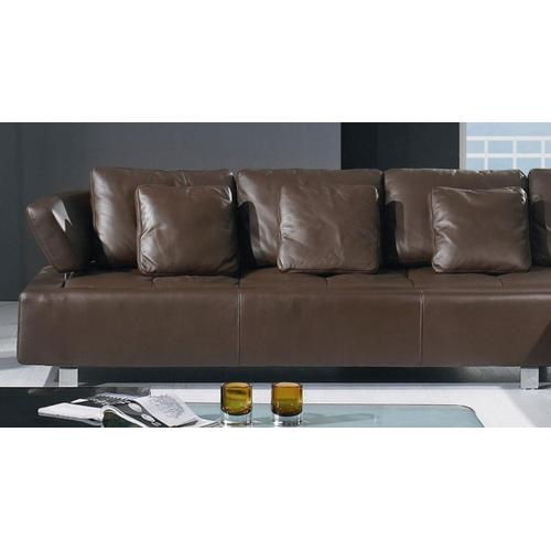 BO-3878 - Contemporary Brown Leather Sectional Sofa
