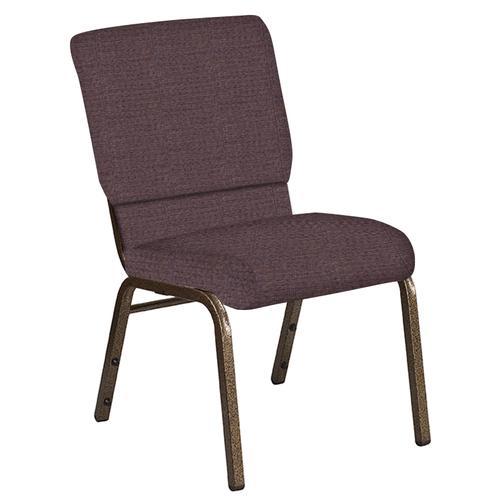 Flash Furniture - 18.5''W Church Chair in Interweave Cadet Fabric - Gold Vein Frame