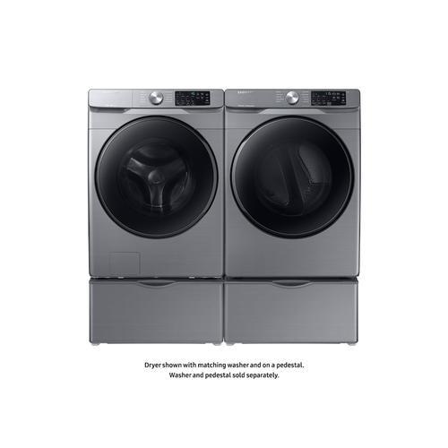 Samsung - 7.5 cu. ft. Gas Dryer with Steam Sanitize+ in Platinum
