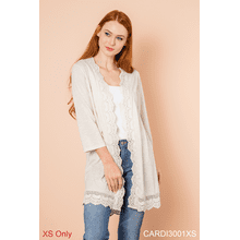Seashell Scallop Edge Cardigan - XS (3 pc. ppk.)