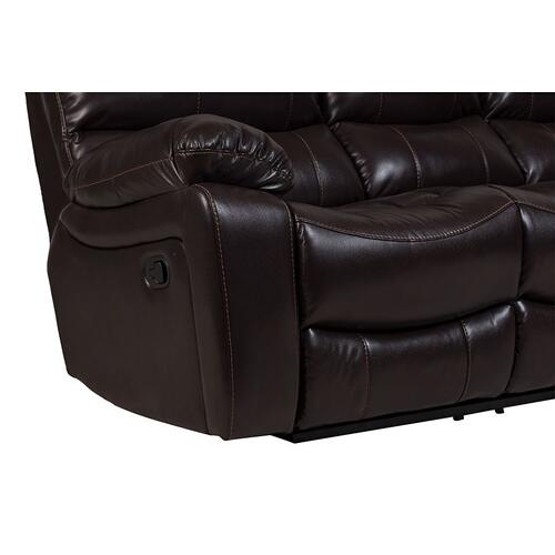 Porter International Designs - Ramsey Brown Leather-Look Reclining Sectional, M6053