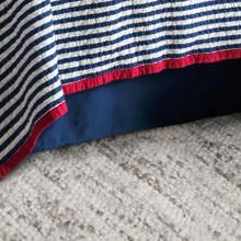 "Canvas Bedskirt, Navy (16""/18"" Drop) - Queen"