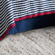 "Canvas Bedskirt, Navy (16""/18"" Drop) - King"