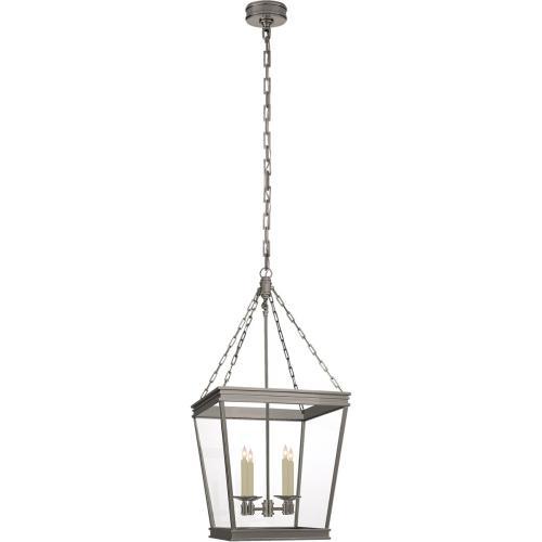 Visual Comfort CHC5611AN-CG E. F. Chapman Launceton 4 Light 17 inch Antique Nickel Foyer Lantern Ceiling Light, Medium Square
