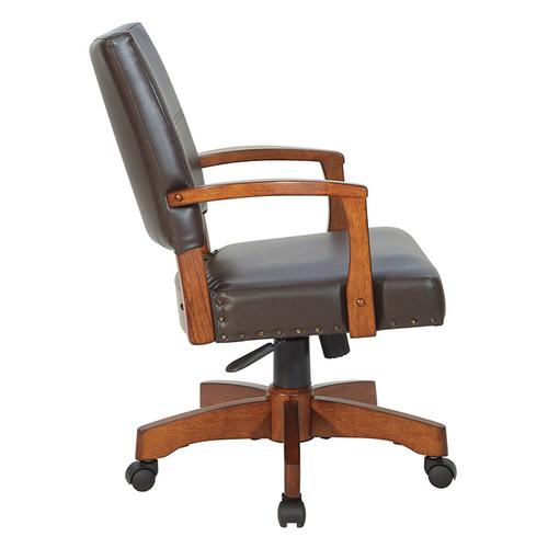 Office Star - Deluxe Wood Bankers Chair