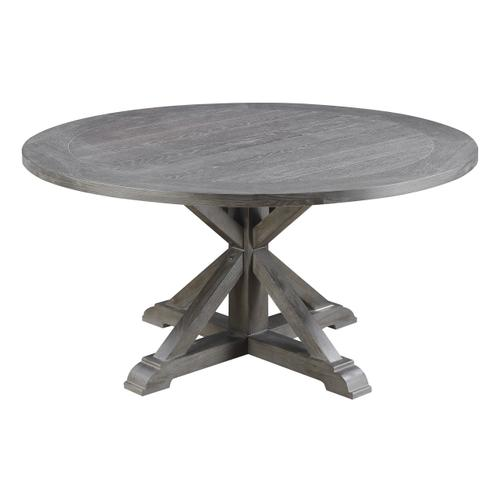 Paladin Round Dining Table, Weathered Gray D350-12-03