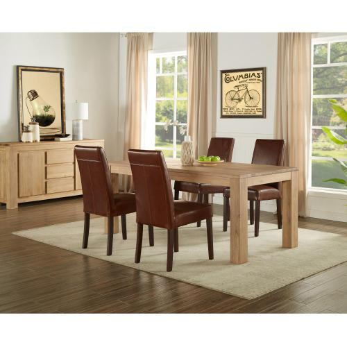 """Bedford 75"""" Rect. Dining Table Square Legs, Brushed Smoke"""