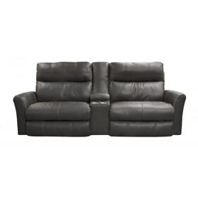 "Voice Pwr Headrest w/Lumbar Pwr Lay Flat Recl Con Sofa (95"")"