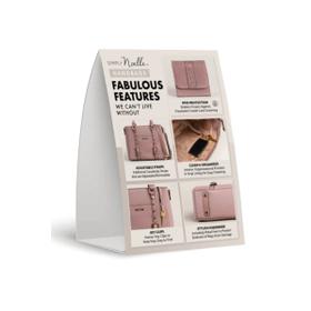 Handbag Tent Card