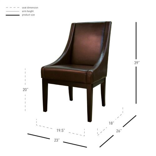Houston Bonded Leather Chair, Mocha