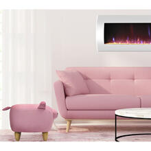"Critter Sitters Plush Pink Pig Animal Ottoman Furniture for Nursery, Bedroom, Playroom & Living Room Decor, 15"" Seat Height, CSPIGOTT-PNK"