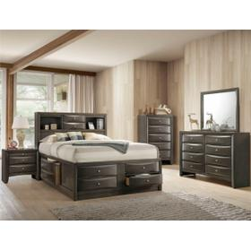 King  Storage Bed Grey