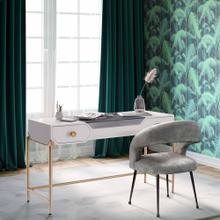See Details - Bajo White Lacquer Desk