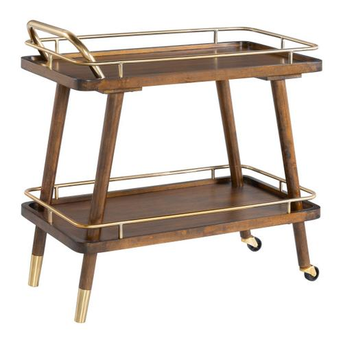 Modern Bar Cart in Brown