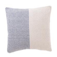 See Details - Blue & Natural Color Block Pillow