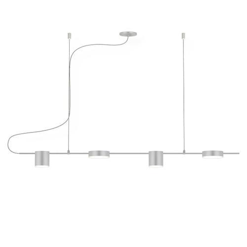 Sonneman - A Way of Light - Counterpoint LED Pendant [Size=4-Light Linear, Color/Finish=Bright Satin Aluminum]