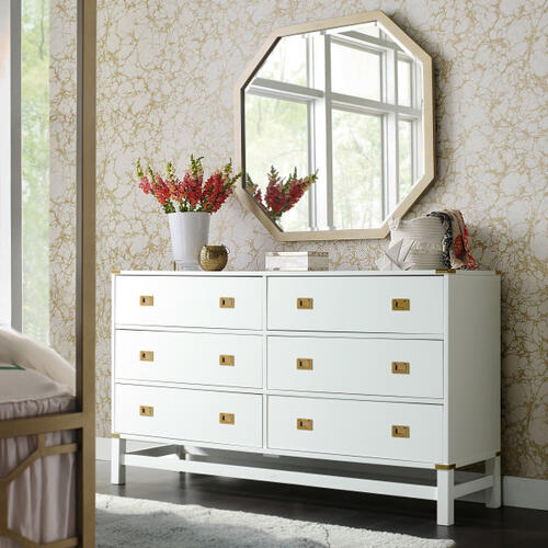 Glam Campaign 6 Drawer Dresser (Carton 2 of 2)