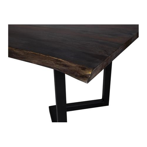 """Porter International Designs - Manzanita Midnight 82"""" Dining Table with Different Bases, VCS-DT82M"""