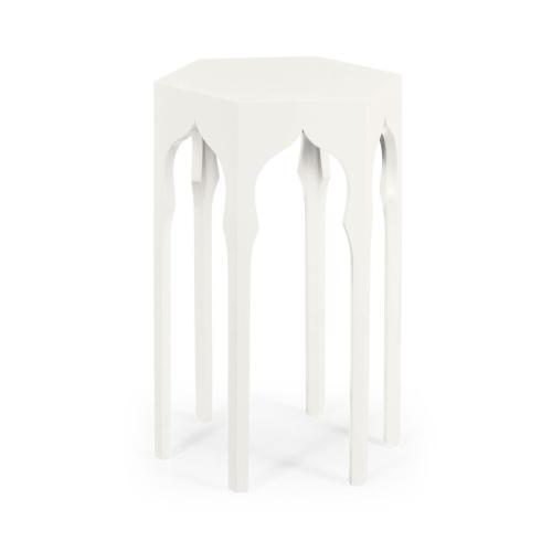 Hexagon Lamp Table (Snow White)