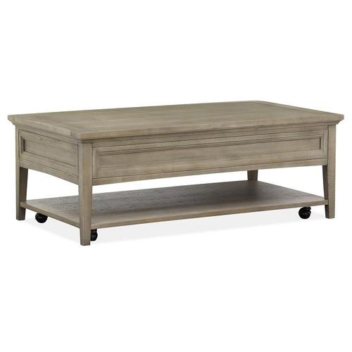 Magnussen Home - Rectangular Cocktail Table w/Casters