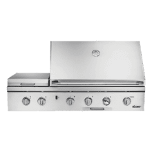 "52"" Outdoor Grill with Infrared Sear Burner, Stainless Steel, Natural Gas"