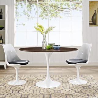 "Lippa 48"" Oval Walnut Dining Table in Walnut"