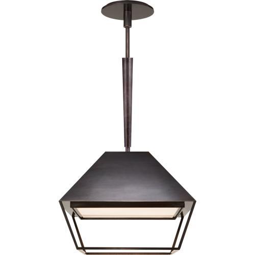 Visual Comfort BBL5101BZ-FA Barbara Barry Odeum 2 Light 14 inch Bronze Hanging Lantern Ceiling Light, Small