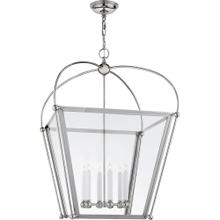 Visual Comfort CHC3440PN-CG E. F. Chapman Plantation 6 Light 29 inch Polished Nickel Foyer Lantern Ceiling Light, E.F. Chapman, Large, Clear Glass