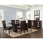Briana Brown 7 Piece Set(Table & 6 Side Chairs)