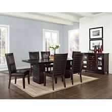 Briana Brown 7 Piece Set (Table & 6 Side Chairs)