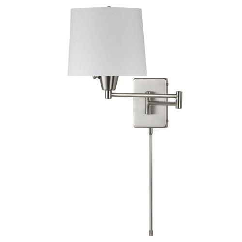 Swing Arm Wall Lamp White Shade