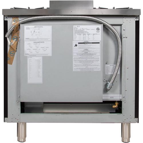 36 Inch Glossy Black Natural Gas Freestanding Range