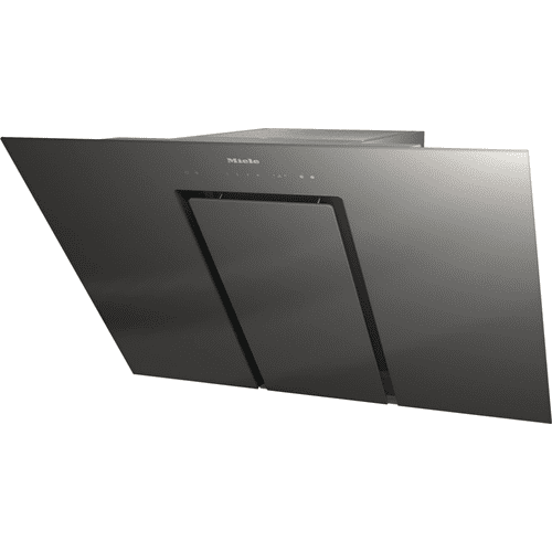 DA 6498 W Pure Grey - Wall ventilation hood with energy-efficient LED lighting and touch controls for simple operation.