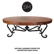 Hammer Copper Oval Coffee Table
