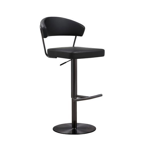 Tov Furniture - Cosmo Black on Black Steel Barstool