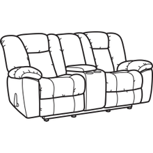 Product Image - La Crosse Fabric Gliding Reclining Loveseat with Console