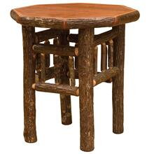 Octagon End Table - Cognac