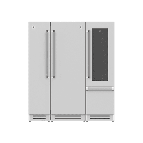 "Hestan - 72"" Column Freezer (L), Refrigerator and Wine Refrigerator ® Ensemble Refrigeration Suite - Grove"