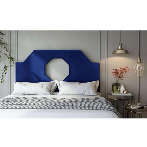 Tov Furniture - Noctis Twin Headboard in Navy Velvet