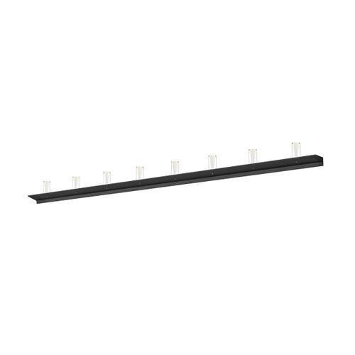 "Sonneman - A Way of Light - Votives LED Wall Bar [Size=8', Color/Finish=Satin Black, Shade Size=4"" height x 2"" diameter]"