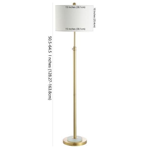 Pierson Floor Lamp - Brass Gold / Frost White