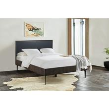 View Product - Cross Solid Oak and Metal King or Queen Platform Bed Frame