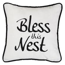 """bless This Nest"" Embroidery Throw Pillow"