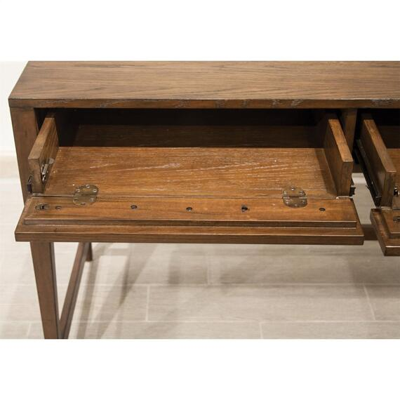 Riverside - Vogue - Writing Desk - Plymouth Brown Oak Finish
